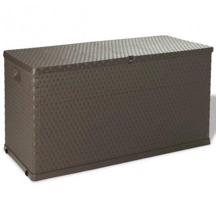 Venkovní úložný box - 120x56x63 cm - 420L | hnědá