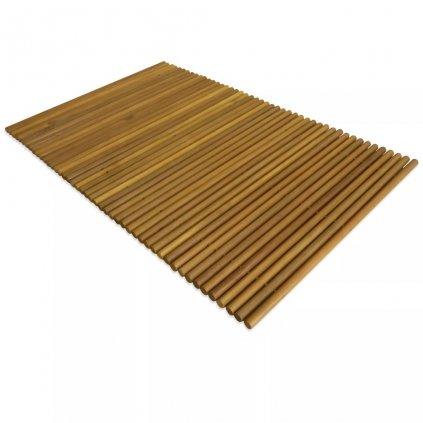 Koupelnová předložka - akáciové dřevo | 80x50 cm
