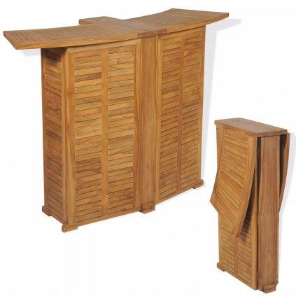 Venkovní barový stůl - teak | 155x53x105 cm