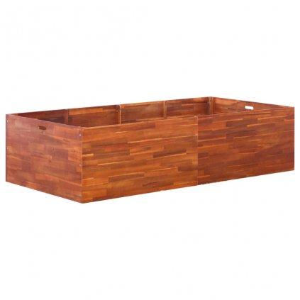 Zahradní truhlík z akáciového dřeva | 200x100x50 cm