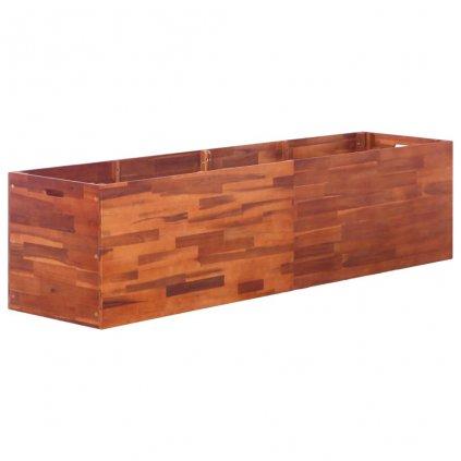 Zahradní truhlík z akáciového dřeva | 200x50x50 cm