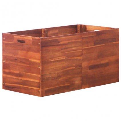 Zahradní truhlík z akáciového dřeva | 100x50x50 cm