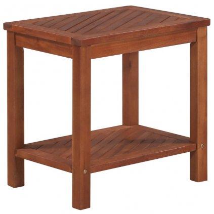 Odkládací stolek z masivního akáciového dřeva | 45x33x45 cm