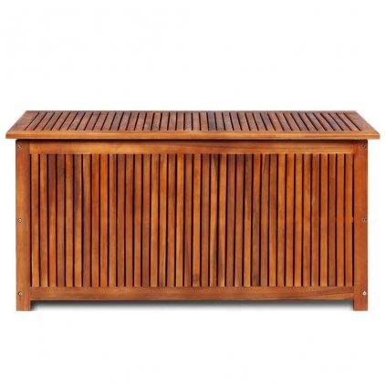 Venkovní úložný box z masivního akáciového dřeva - 117x50x58 cm
