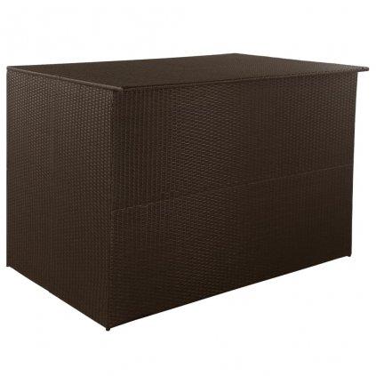 Venkovní úložný box z polyratanu 150x100x100 cm | hnědý