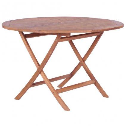 Skládací jídelní stůl z masivního teaku | 120x75 cm