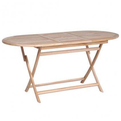 Jídelní stůl z masivního teakového dřeva | 160x80x75 cm