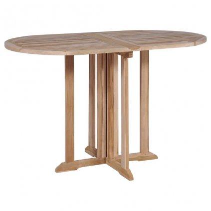 Skládací jídelní stůl z masivního teaku | 120x70x75 cm