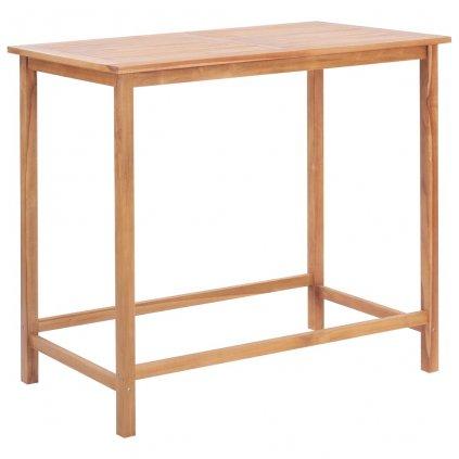 Zahradní barový stůl - masivní teak   120x65x110 cm