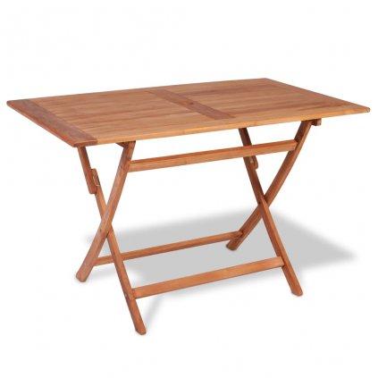 Skládací zahradní jídelní stůl -  teakové dřevo | 120x70x75 cm