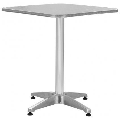 Čtvercový zahradní stůl - hliníkový | 60x60x70 cm