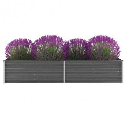 Zahradní truhlík Logan - pozinkovaná ocel | 240 x 80 x 45 cm | šedá