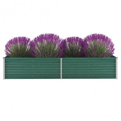 Zahradní truhlík Logan - pozinkovaná ocel | 240 x 80 x 45 cm | zelený