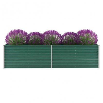 Zahradní květináč z pozinkované oceli - zelený | 320x80x77 cm