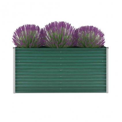 Zahradní květináč z pozinkované oceli - zelený | 160x40x77 cm