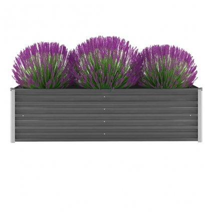 Zahradní truhlík Logan - pozinkovaná ocel | 160 x 40 x 45 cm | šedý