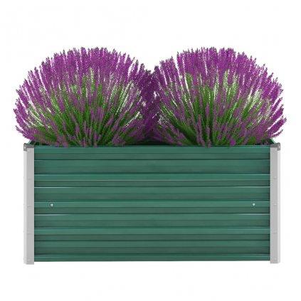 Zahradní květináč z pozinkované oceli - zelený | 100x40x45 cm