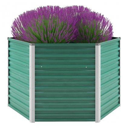 Zahradní květináč z pozinkované oceli - zelený | 129x129x77 cm
