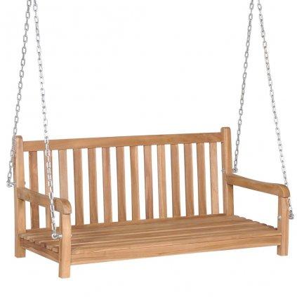 Houpací lavice - masivního teaku - 120x60x57,5 cm   hnědá