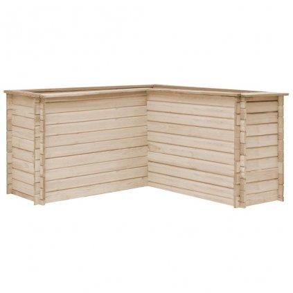 Zahradní truhlík - masivní FSC borové dřevo | 150x150x80 cm