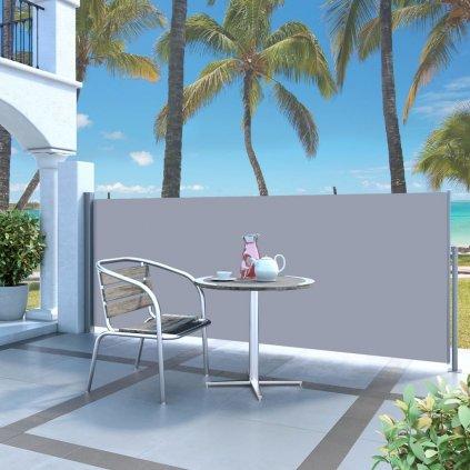 Zatahovací boční markýza / zástěna  - 120x300 cm   krémová