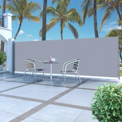 Zatahovací boční markýza / zástěna - 180x500 cm   krémová