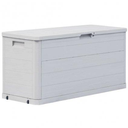 Zahradní úložný box - světle šedý - 280L - 117x45x56 cm