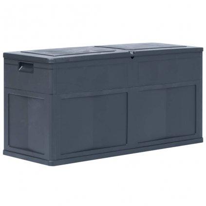 Zahradní úložný box - černý - 320L - 119x46x60 cm