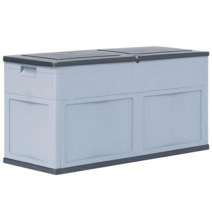 Zahradní úložný box - šedo-černý - 320L - 119x46x60 cm