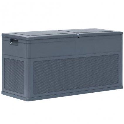 Zahradní úložný box - antracitový - 320L - 119x46x60 cm