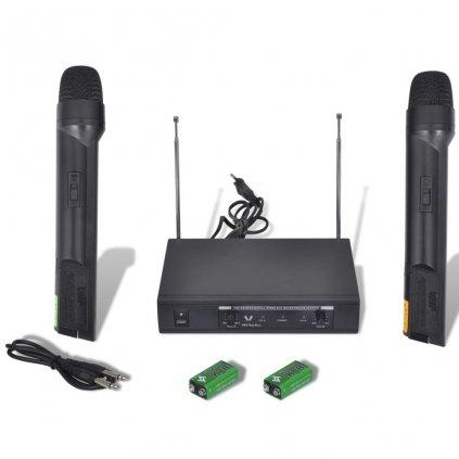Bezdrátový mikrofonní systém VHF-přijímač se 2 mikrofony