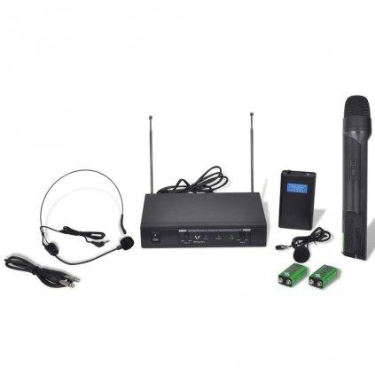 Bezdrátový mikrofonní systém VHF-1 mikrofon + 1 headset mikrofon