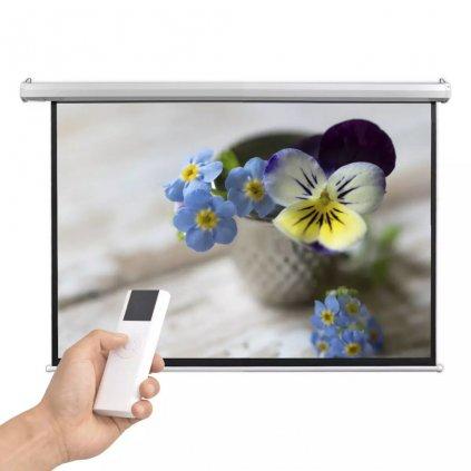 Elektrické promítací plátno - dálkové ovládání | 160x90 cm - 16:9