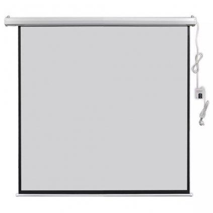 Elektrické promítací plátno - dálkové ovládání | 160x160 cm - 1:1