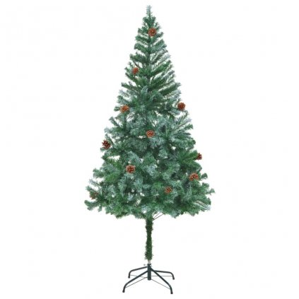 Umělý vánoční stromek se šiškami - 180 cm