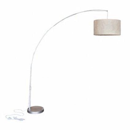 Nastavitelná stojací lampa oblouk - krémová   192 cm