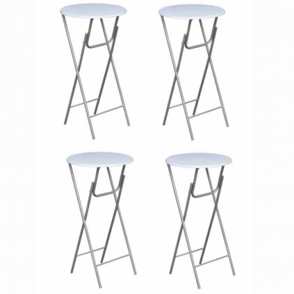 Čtyři barové stoly | bílá