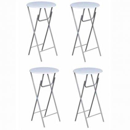 Čtyři barové stoly Sonoma | bílá