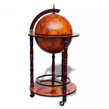 Globus bar stojan na víno | dřevěný