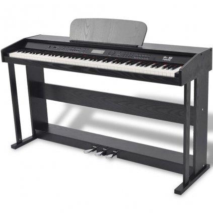 88klávesové digitální piano s pedály | černá melaminová deska