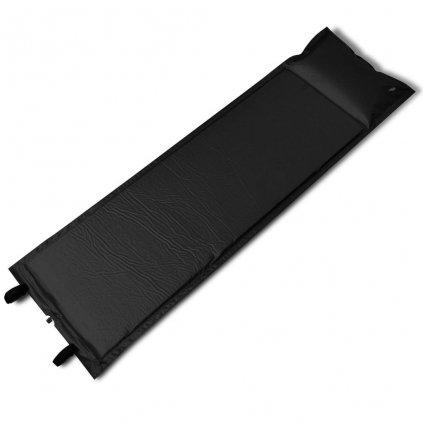 Černá samonafukovací karimatka | 185x55x3 cm