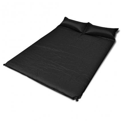 Černá samonafukovací karimatka | 190x130x5 cm