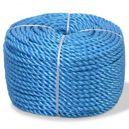 Kroucené lano, polypropylen, 10 mm, 100 m, modrá