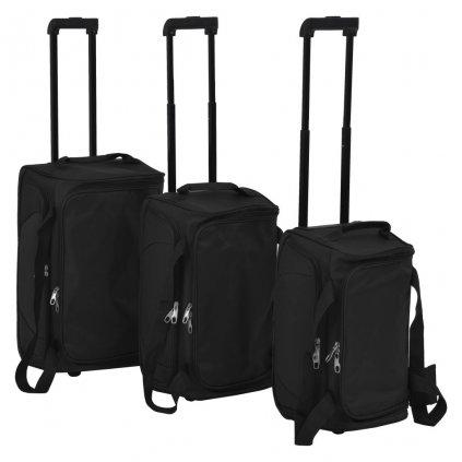 3-dílná sada cestovních kufrů   černá