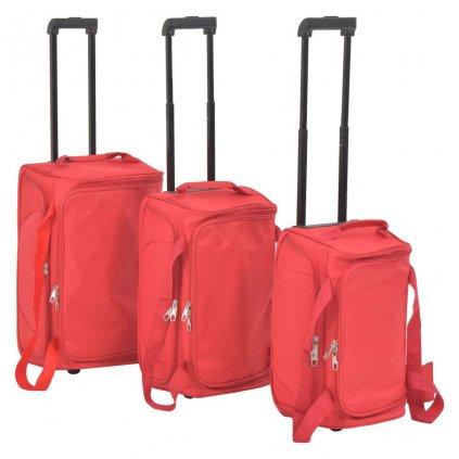 3-dílná sada cestovních kufrů   červená