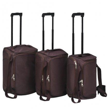 3-dílná sada cestovních zavazadel   kávová