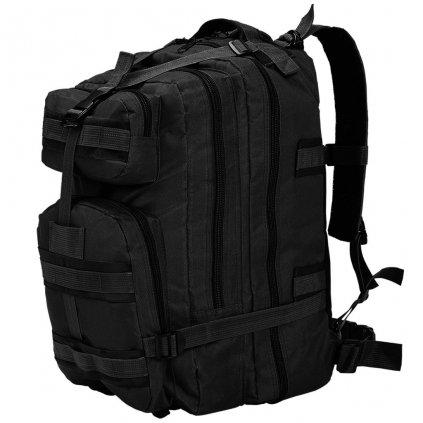 Batoh v army stylu - černý | 50 l