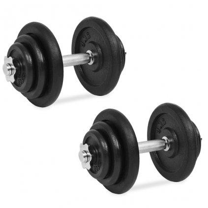 18dílný set činek 40 kg | litinový