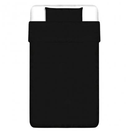 Dvojdílná bavlněná sada povlečení - černá | 155x220/60x70 cm