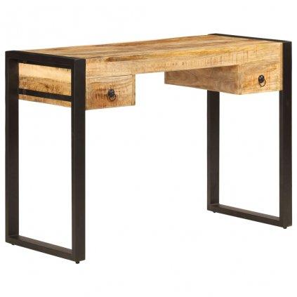 Psací stůl se 2 zásuvkami - masivní mangovník | 110x50x77 cm